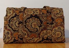 Reserved for Shanna Brown Black Gold Paisley Quilted Purse by RoxannasBags on Etsy