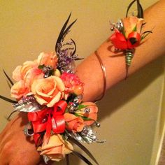 Prom corsage. Could be used for Bridesmaids  and Jr Bridesmaids, what fun a fun idea