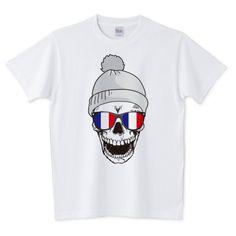 「POPスカルTシャツ(フランスバージョン)/トリコロール,国旗,パンク.スカル,髑髏,ドクロ,骸骨,Tシャツ,ロンT,パーカー,スウェット」デザインの5.6オンスTシャツ (Printstar)です。3点以上で送料無料。関連タグ「スカル,ドクロ,ロック,ガイコツ,骸骨,クール,髑髏,パンク,フランス,トリコロール」デザイン説明:POPスカルTシャツ(フランスバージョン)トリコロールカラーのサングラス。 | Tシャツトリニティは多種多様なデザイナーが出店するデザインTシャツ通販専門モールです。
