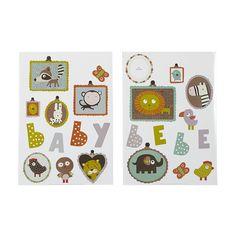 Stickers pour enfants : portraits d'animaux Muticolore - Baby - Les stickers - Affiches et déco murale - Toute la déco - Décoration d'intérieur - Alinéa
