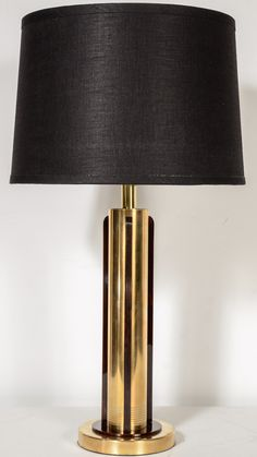 1stdibs.com | Art Deco Machine Age Lamp by Chase in Copper with Bakelite Accents