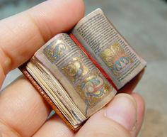 Miniature Illuminated Medieval Manuscripts & Leonardo da Vinci Sketchbooks (by Ericka VanHorn)