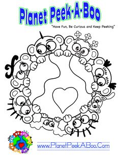 Hello To All You Peek-A-Boo Fans, Exciting News! We are having a coloring Contest here @ Planet Peek-A-Boo! Please feel free to pass along to anyone (All ages may enter) who loves to color.  Once Completed, Take a picture or scan your master piece and submit to Peek-A-Boo Gina @ peekaboopeople@mac.com All entries will be featured on the Planet Peek-A-Boo Facebook page.  Don't Delay start coloring today! Peek 2U later.