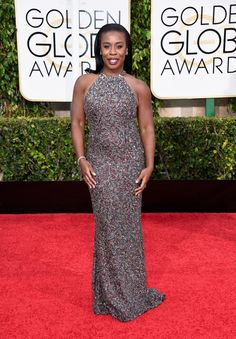 Pin for Later: Check Out All the Stars on the Golden Globes Red Carpet! Uzo Aduba