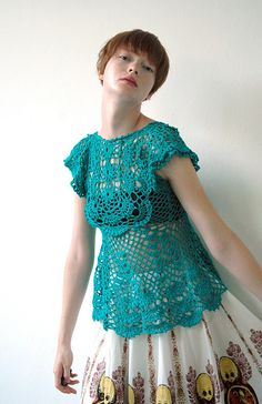 ao with <3 / turquoise #crochet top