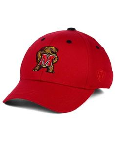 Top of the World Boys  Maryland Terrapins Onefit Cap - Red Adjustable Fit  Back 9ef90b00b69
