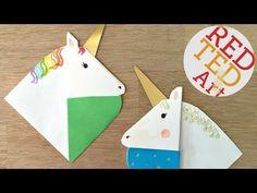 Unicorn Corner Bookmark - Red Ted Art's Blog