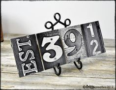 Wedding Date- 4 date photos Alphabet Photography, dates numbers wedding anniversary, wedding signage and decor