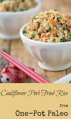 Cauliflower Pork Fried Rice from One-Pot Paleo - Gutsy By Nature