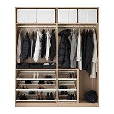 Fresh IKEA PAX Wardrobe White stained oak effect auli mirror glass cm year guarantee Read about the terms in the guarantee brochure
