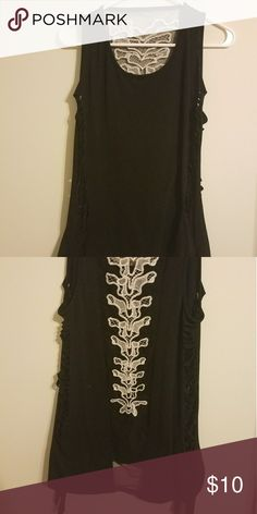 2edf6562a7 Tank top with spine Plain black tank top with a see through spine on the  back