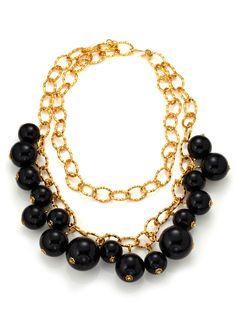 Ideeli | Кеннет Джей Лейн 2-рядный цепи ожерелье с эмалью Бисер