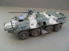 Trumpeter 1/35 Russian BTR -80A   Artist: Micheal Grundy