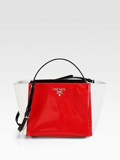 Prada Spazzolato Colorblock Bucket Bag