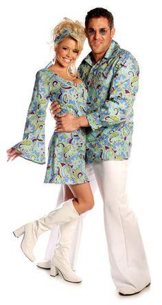 Womens Go Go Blue Sexy 70s Costume 30