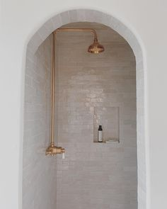 Bathroom Renos, Master Bathroom, Bathroom Inspo, Basement Bathroom, Bathroom Ideas, Outdoor Pool Shower, Glazed Tiles, Black And White Tiles, Portland Cement