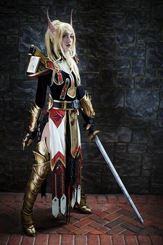 Blood Elf Paladin, Photo by Anna Fischer.