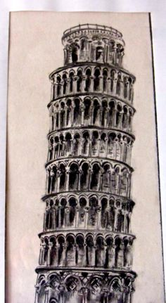 Leaning Tower of Pisa Another practice in pencil apron 1989