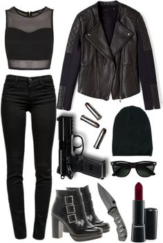 Eleanor inspired Undercover Agent by giannilorenz featuring a neoprene jacket