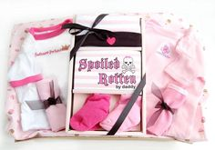 Spoiled Rotten Baby Girl Basket