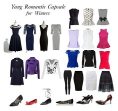 Theatrical Romantic capsule wardrobe.