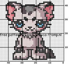 80 Free cross stitch designs cats 1 stitchingcharts borduren gratis borduurpatronen poezen katten kruissteekpatronen