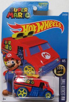 Hot Wheels Super Mario Cool-One Street Sweeper NIB 224/250 NIP HW Screen Time 4/5