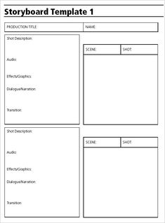Audio  Video Storyboard Template   Free Sample Example
