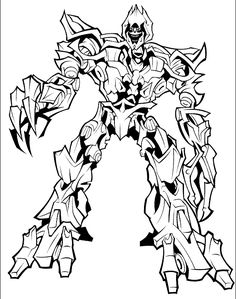 Megatron The Evil Master In Transformers Coloring Page : Kids Play Color Coloring Pictures For Kids, Coloring Pages For Boys, Cartoon Coloring Pages, Coloring Pages To Print, Coloring Book Pages, Transformers Drawing, Transformers Coloring Pages, Descendants Coloring Pages, Transformers Birthday Parties