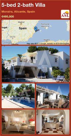 5-bed 2-bath Villa in Moraira, Alicante, Spain ►€495,000 #PropertyForSaleInSpain