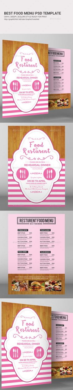 Steak Bar Menu Template PSD Download Best Food Menu Templates - bar menu template
