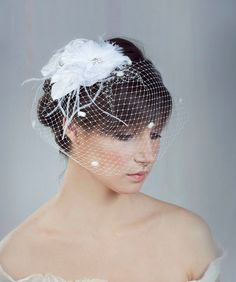I want a birdcage veil for my wedding because I want my hair down in really long curls :)
