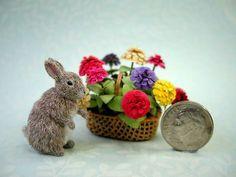 OOAK 1 12 Scale Dollhouse Miniature Wild Rabbit by Catherine Ronan | eBay