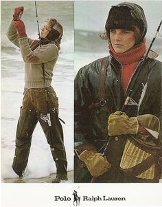 Images of Polo's first multipage ad campaign photographed by Bruce Weber in Nantucket, Ma., 1981.