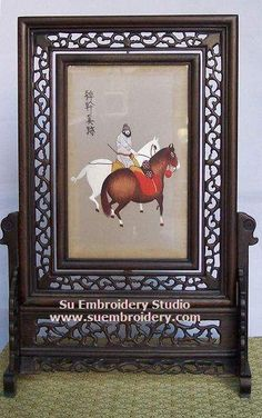 Horse, double-sided embroidery work, one embroidery two identical sides, Chinese Suzhou silk embroidery art, Su Embroidery Studio