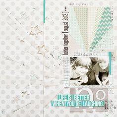 #papercraft #scrapbook #layout. anna-marie wolniak  love the sun rays  titles