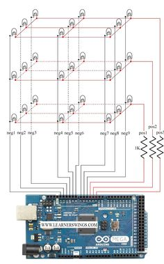 Breadboard arduino wiring schematic computer tech pcb control 333 led cube using arduino mega easy course for beginners swarovskicordoba Image collections