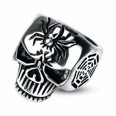 316L Stainless Steel Spider Web Skull Cast Men's Ring; Comes With Free Gift Box Jinique. $12.99. Comes with Free Gift Box. High Quality Stainless Steel. Skull Cast Ring
