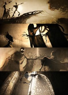 Woo! HP! #hp #deathlyhallows This is absolutely stunning animation and my favorite part of part 1.
