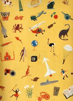 Children's book endpapers - Yugoslavia