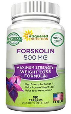 100% Pure Forskolin 500mg Max Strength – 180 Capsules, Forskolin Extract Supplement for Weight Loss Fuel, Coleus Forskohlii Root 20% Forskolin Diet Pills, Belly Buster Fat Burner 2x Slim Trim Lose