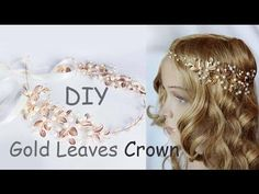How to Make Gold Leaves Head Crown Tiara Comb EASY DIY - YouTube