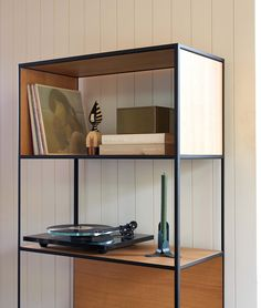 Our kind of shelfie 😍 Our Linear High Shelf is right at home with a thoughtfully curated collection of records, books and art pieces. Shelfie, Bathroom Medicine Cabinet, Shoe Rack, Playlists, Simple, Albums, Audiobooks, Art Pieces, House
