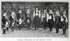 JUVENILE COMPETITORS IN THE HIGHLAND EVENTS - 1905.