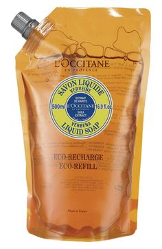 L'Occitane 'Verbena' Liquid Soap Eco-Refill available at #Nordstrom