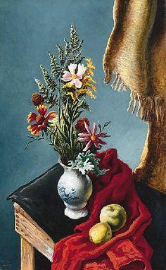 THOMAS HART BENTON Still Life of Flowers (1949)
