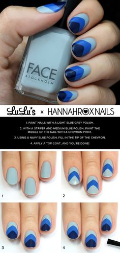 It's undeniable that all shades of blue have become a popular polish choice here at LuLu*s! Check out this week's fun blue chevron nail tutorial!
