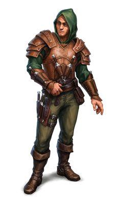 Male Human Rogue Thug Bandit - Pathfinder PFRPG DND D&D 3.5 5E 5th ed d20 fantasy