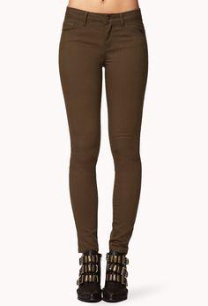 Ankle Length Denim Skinny Jeans   FOREVER21 - 2019572717