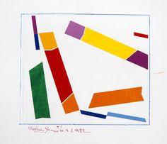 René Roche (1932-1992)  Composition, circa 1981-82  Dix collages sur papier  50 x 65 cm.
